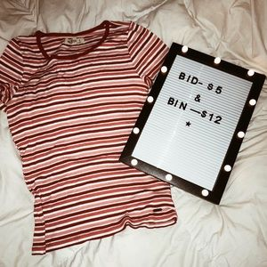 Striped Hollister Tee
